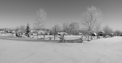 Зимняя околица. зима околица февраль