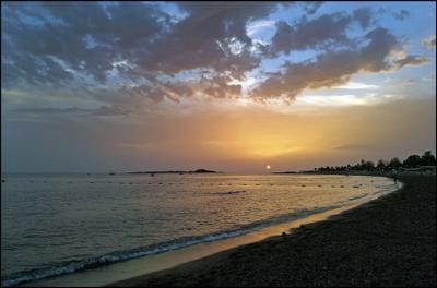 Средиземное море. Закат... Турция Средиземное море закат