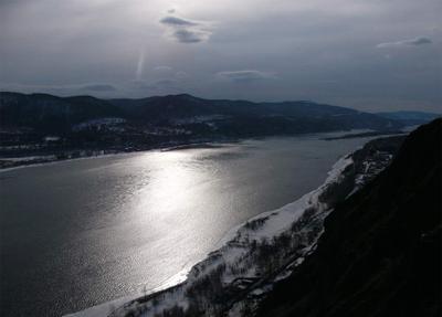 Серебро Енисея енисей река вода солнце