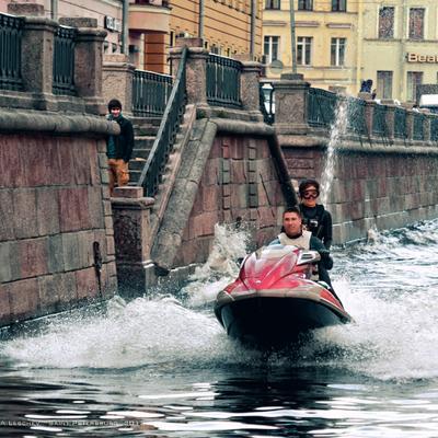 *** канал Грибоедова,аквабайк, Петербург