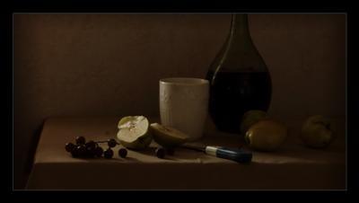 * Натюрморт груши виноград комозиция свет