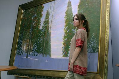 ***По-творчески этника Коми культура творчество картина пейзаж музей красота мода стиль вязание вязанные вещи событие момент традиции север народ искусство дизайнер