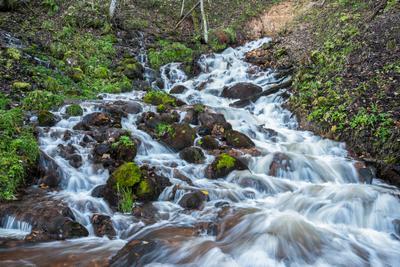 Водопад у деревни Лукино Водопад Лукино вепсы Тихвин