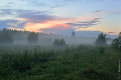 После грозы. Пермский край Соликамский р-он Верхнее Мошево Мошевица вечер после грозы июль