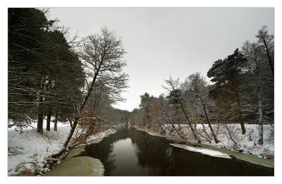 Зимняя река #2 Зима  река  Рождество