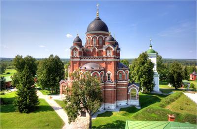Владимирский Собор Спасо-Бородинского женского монастыря Собор Бородино Церковь