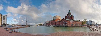 ПАНОРАМА Хельсинки. Набережная 2. финляндия хельсинки набережная порт яхты троицкая церковь