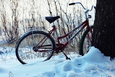 Велосипед велосипед зима снег ясинский