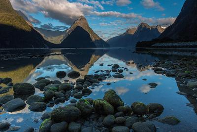 Good morning New Zealand New Zealand Milford sound Fjordland sunrise Mitre peak