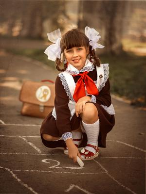 Школьница времён СССР Школа ссср Советский Союз портрет школьница ретро