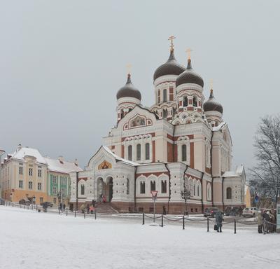 Собор Александра Невского таллин храм собор зима