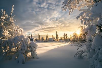 Февральское солнце... Закат Север Мурманская область