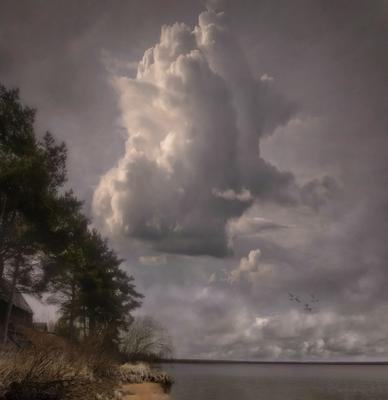 A break in the clouds (A-ha). Landscape