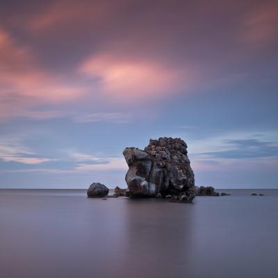 Когда вокруг пустыня моря longexposure nd1000 Крым море закат скала Казантип