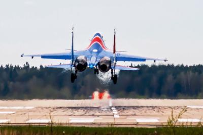 Марево авиабаза Кубинка Су-30СМ