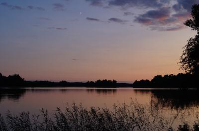 ***вечерние часы Лето деревня отдых природа