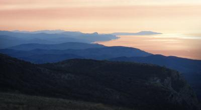 тихий вечер в горах крым горы вечер