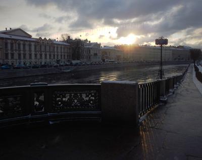 Петербург в самый короткий день зимы Петербург Фонтанка Зима Декабрь