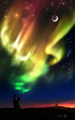 Dusk of Dreams | Закат Грез dusk dreams aurora couple sky colors space закат грез сияние цвет пара космос