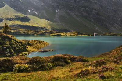Тихая жизнь озеро Трюбзее Энгельберг Швейцария горы Титлис Урненские Альпы Trubsee Urner Alpen Titlis Engelberg Schweiz
