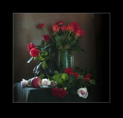 *** Натюрморт цветы композиция контраст форма