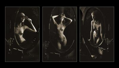 Старое зеркало. Триптих. 2005 г.