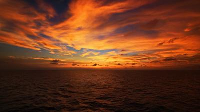 *Вечер в океане*