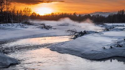 *** река природа пейзаж осень зима камчатка мильково андриановка