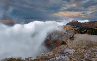 Небесный прилив. небо облака скалы горы