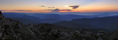 Вечерний Хамар-Дабан  Хамар-Дабан горы закат