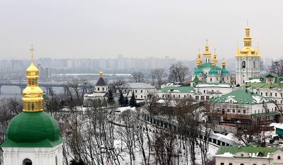 City in Winter II Киево-Печерская Лавра Днепр ближние пещеры зима киев декабрь январь февраль Kiev Kyiv hiver winter Dnepr