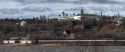 Муромский Спасский монастырь Муром Спасский монастырь Ока апрель