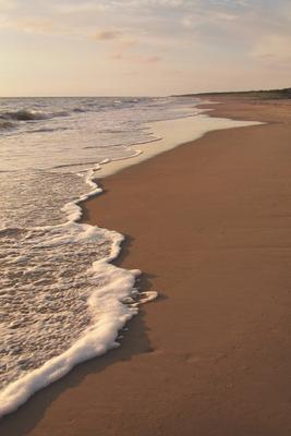 Морское настроение море волны пляж песок пена даль