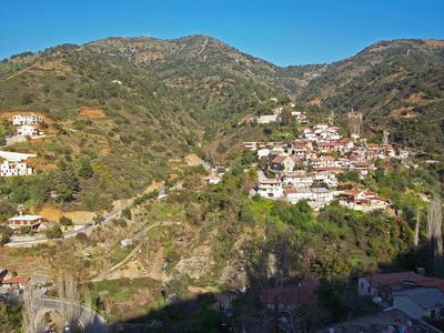 В горах Троодоса 3 Кипр горы склоны дома