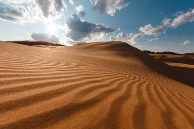 Пески Монголии природа закат пустыня пейзаж монголия