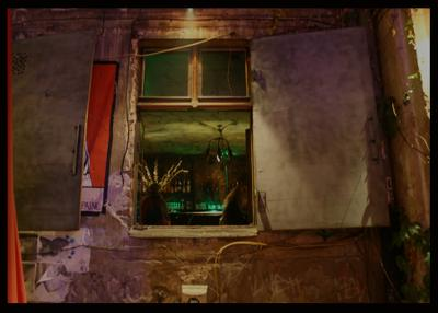 зеленый джин окно кафе Берлин
