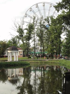 Колесо обозрения колесо обозрения парк пейзаж озеро водоём