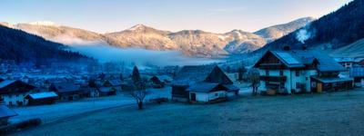 Утро Альпийской долины.