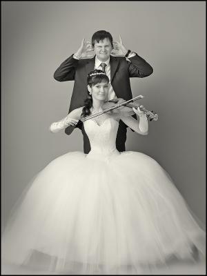 Играю, и не только на нервах... Скрипачка, Невеста, Свадебная фотография в студии в Тольятти