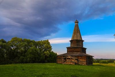Перед грозой Витославлицы великийновгород церковь дерево