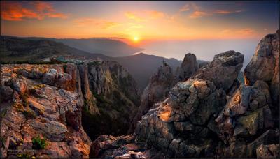 СНЫ АЙ-ПЕТРИ... ПРОБУЖДЕНИЕ... утро рассвет Ай-Петри Крым панорама горы камни весна май