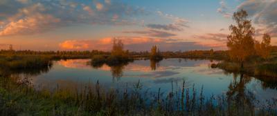 Осеннее небо осень вечер пейзаж