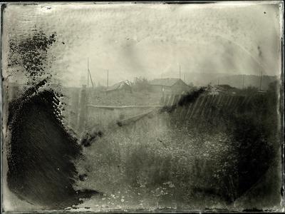 Исчезающая деревня амбротип мокрый коллодий большой формат пейзаж