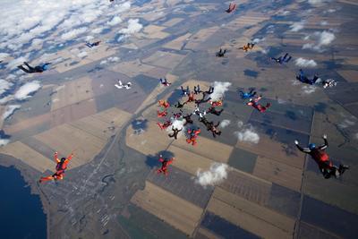 Рекордная работа парашют, парашютисты, парашютизм, рекорд, skydive, skydiving, высота, небо, люди, экстрим, спорт
