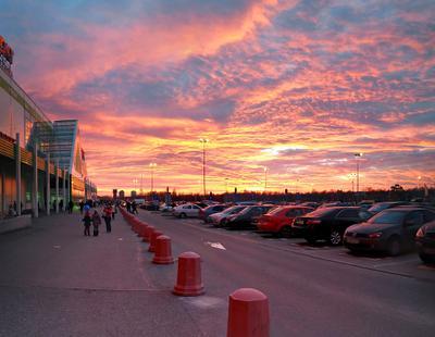 Закат в Питере в день катастрофы... закат санкт-петербург катастрофа египет Airbus 321