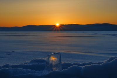 Догорает день. Урал озеро закат