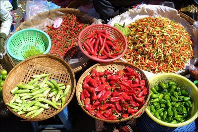 На вкус и цвет острый перец базар камбоджа cambodia pepper red spicy hot market