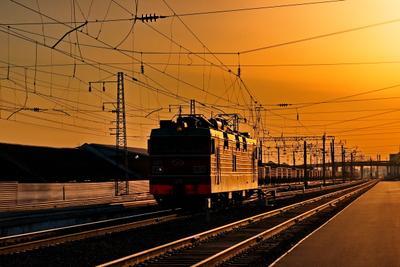 """На закате дня"" ЭП1-067 на станции Абакан Абакан Хакасия закат"