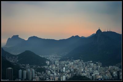 Rio rio de janeiro, brazil, christ redemptor, storm