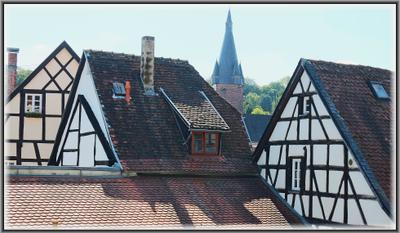 Крыши старого города Германия саарланд ottweiler